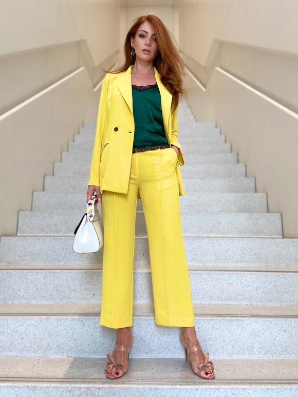Double-Button Blazer and Trousers
