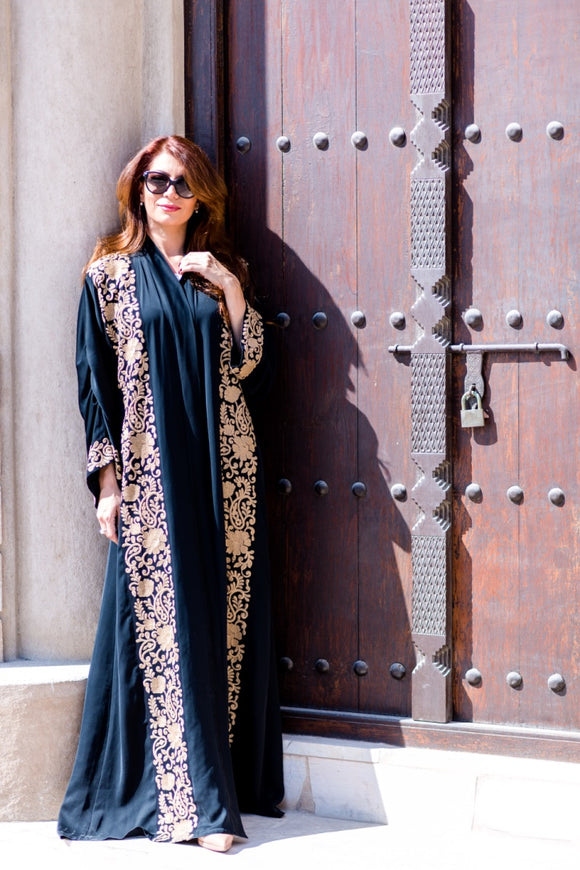 Embroidered abaya