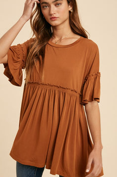 """""""Down to Earth"""" Babydoll Top"""