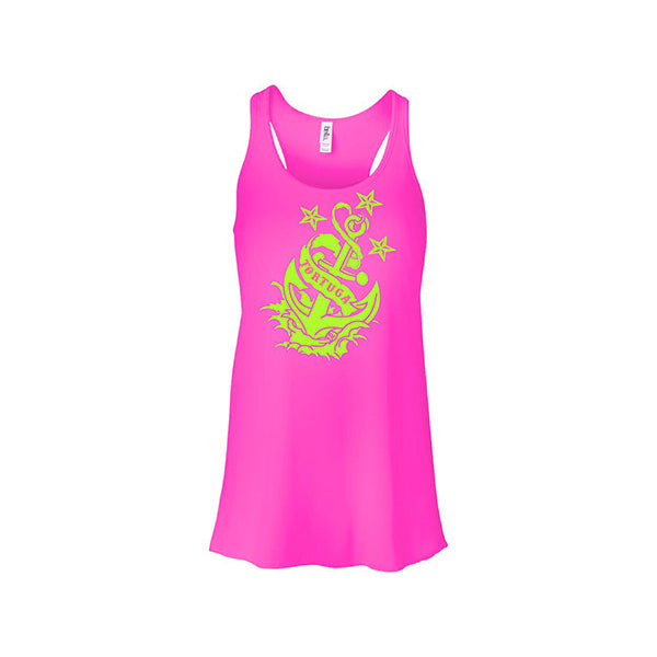 Ladies Anchor Hot Pink Tank