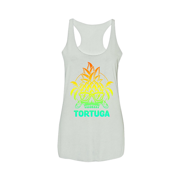 Ladies Pineapple Skull Tank