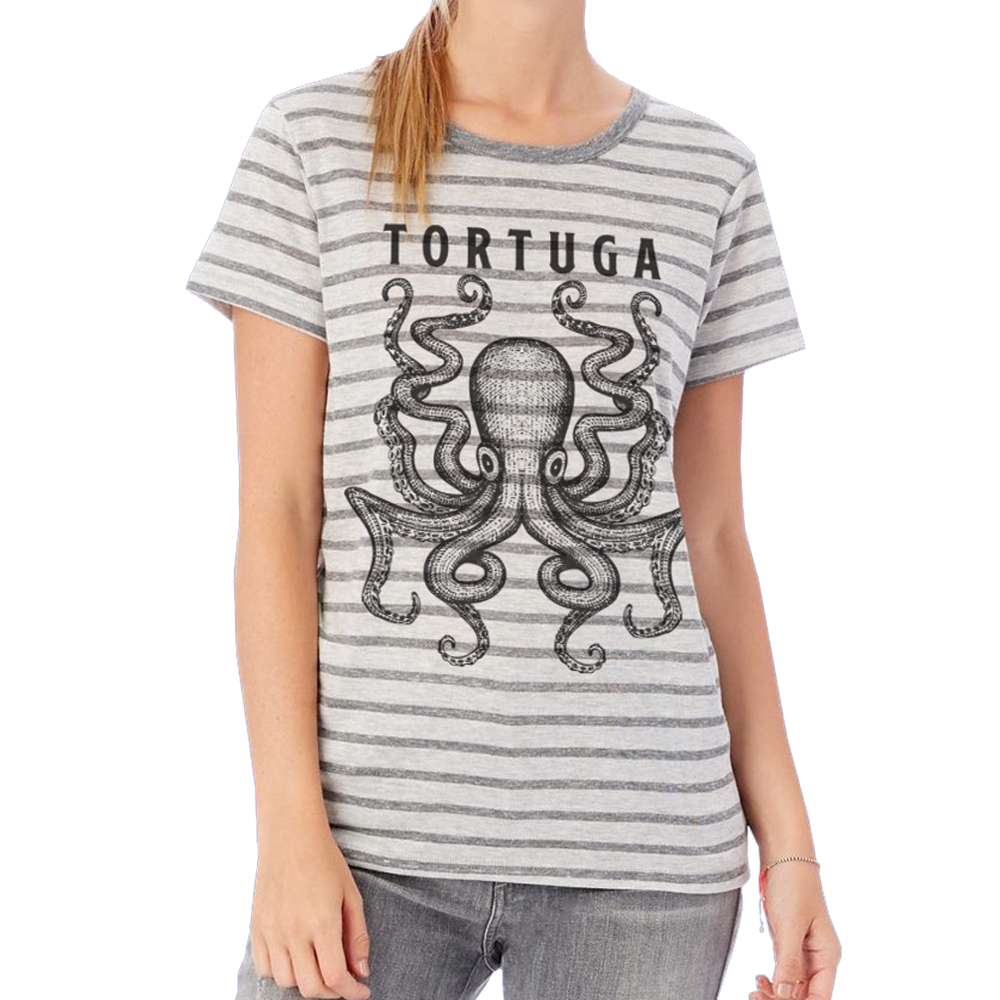 Striped Octopus Tee