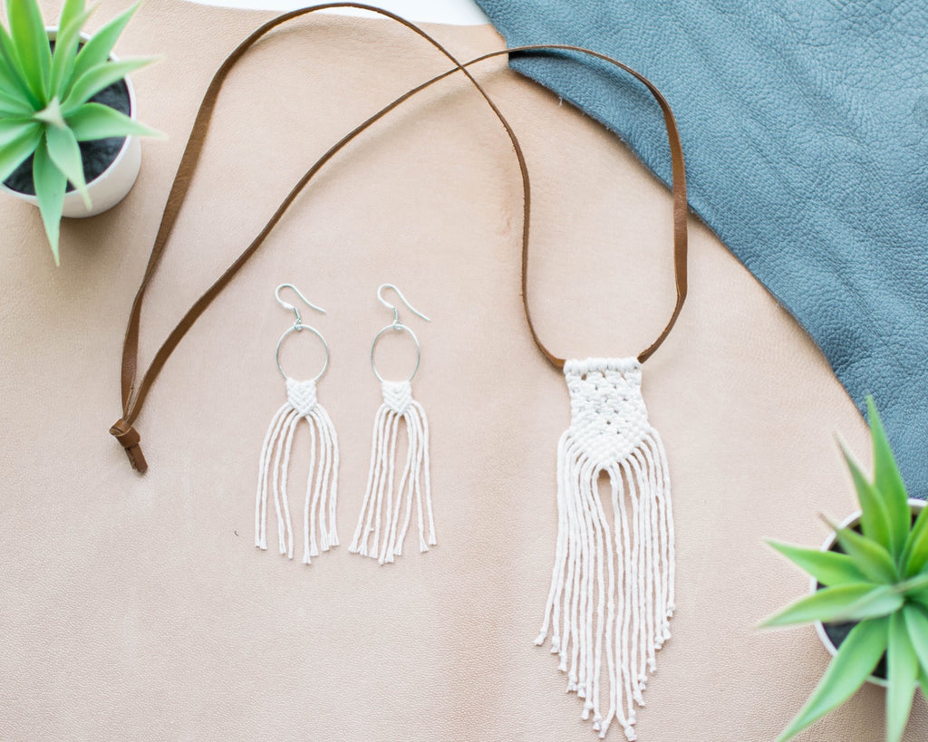 Macramé Jewelry Bundle - Natural