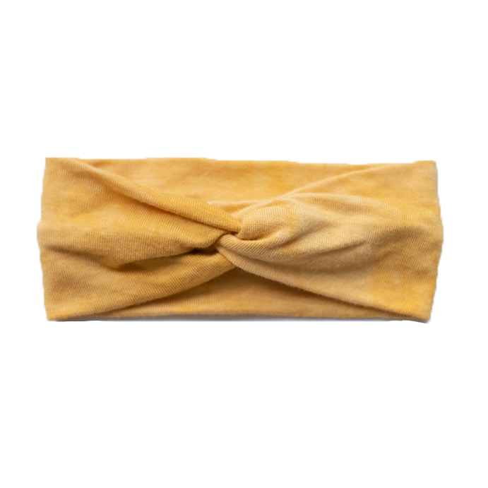 Baby Marbled Stretch Headband - Honey
