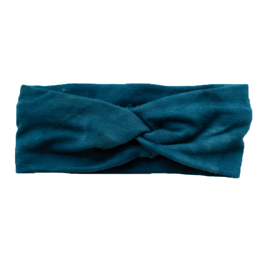 Baby Marbled Stretch Headband - Teal