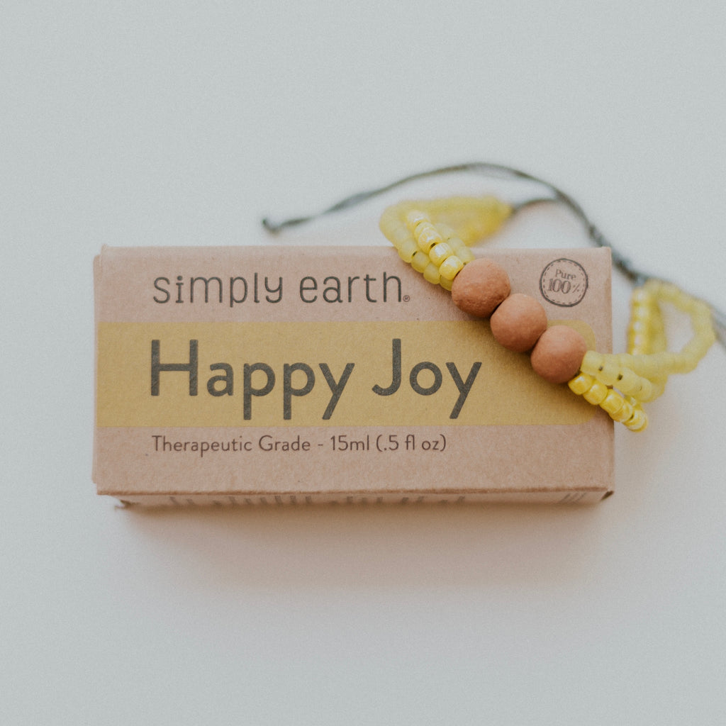 Joyful Diffuser Bundle - Lemon Bracelet + Happy Joy Essential Oil