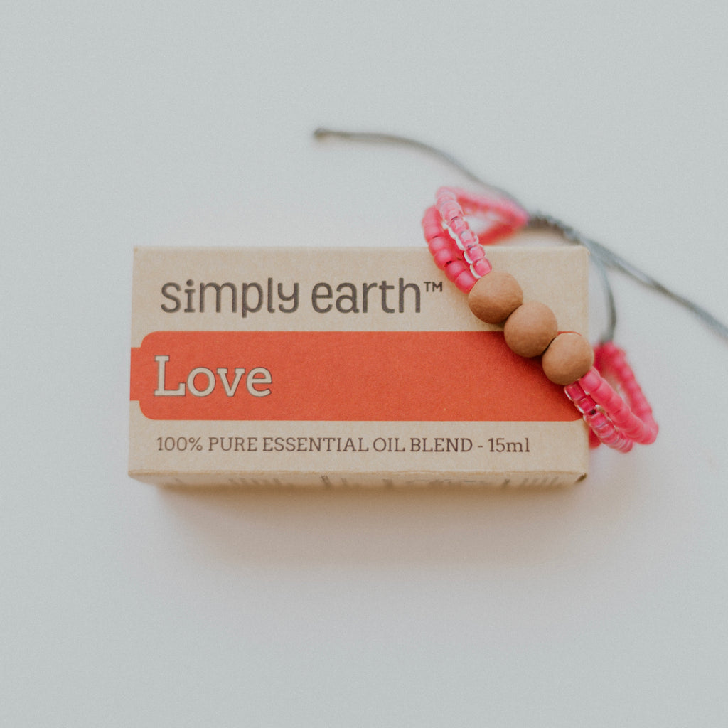 Lovely Diffuser Bundle - Watermelon Bracelet + Love Essential Oil