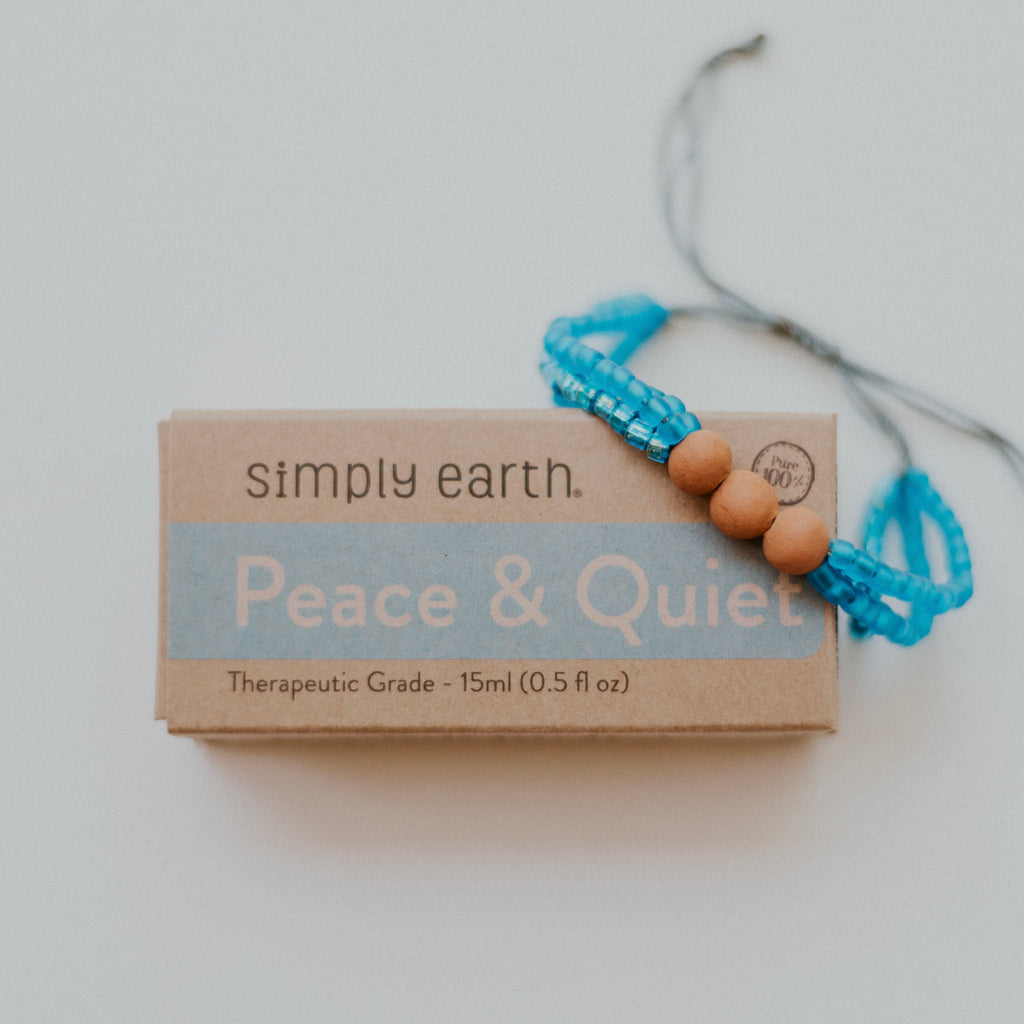 Peaceful Diffuser Bundle - Ocean Bracelet + Peace & Quilt Essential Oil