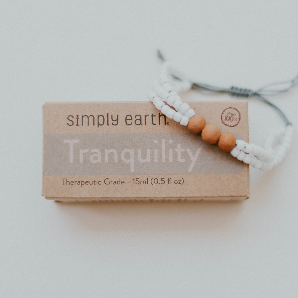 Tranquility Diffuser Bundle - Coconut Bracelet + Tranquility Essential Oil