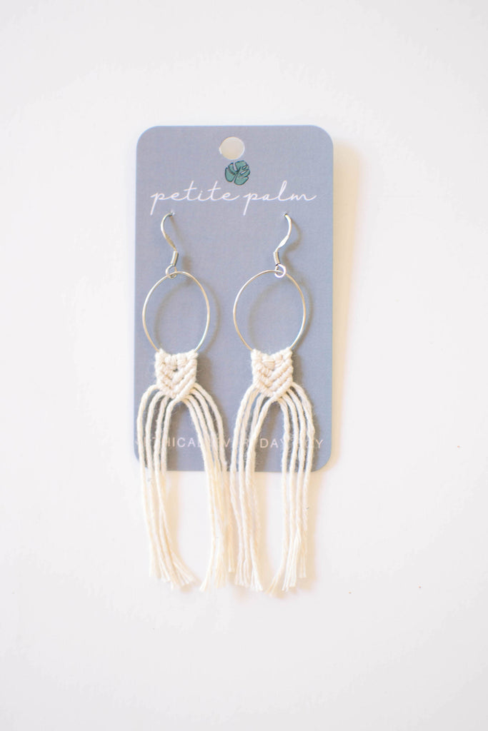 Skinny Mac Earrings - Natural