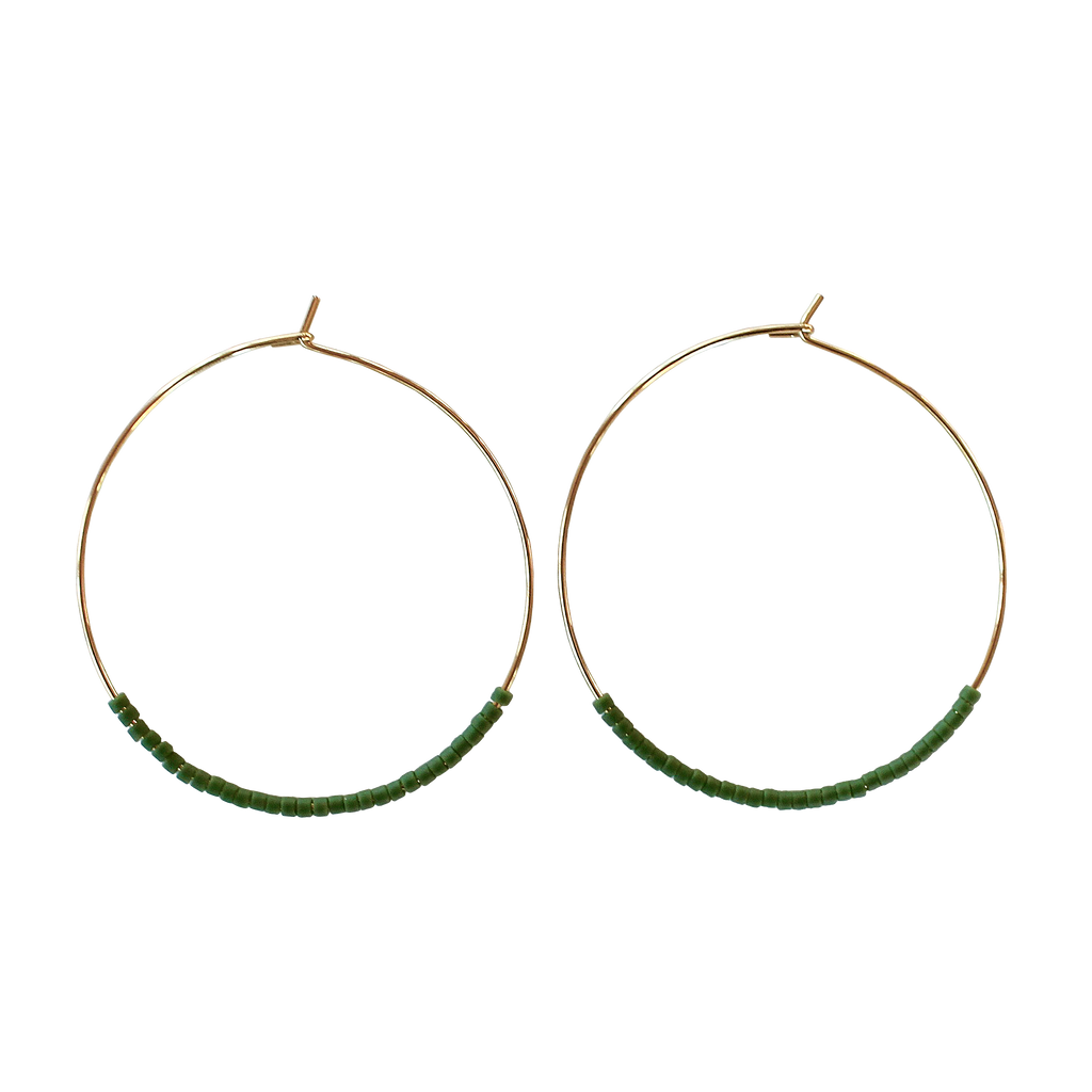 Minimalist Hoops - Avocado