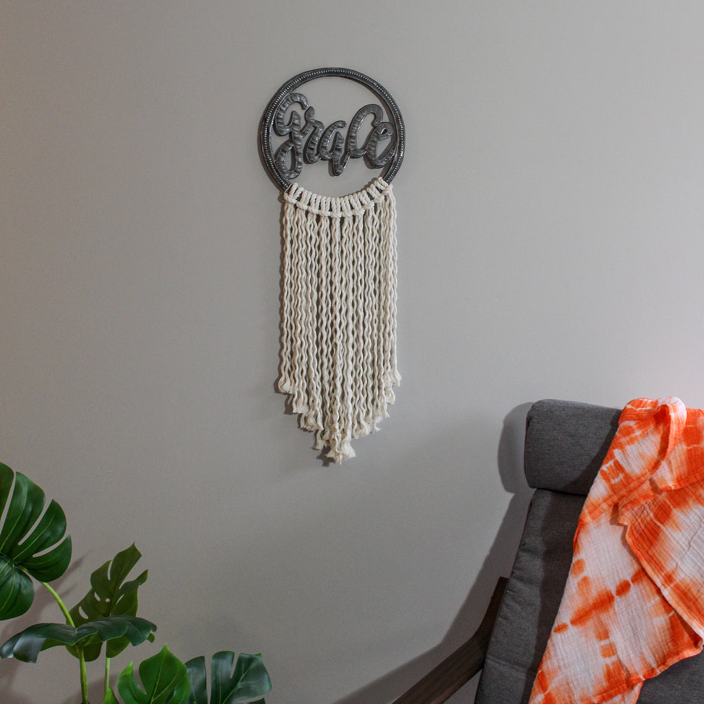 Metal Art with Macramé - Grace