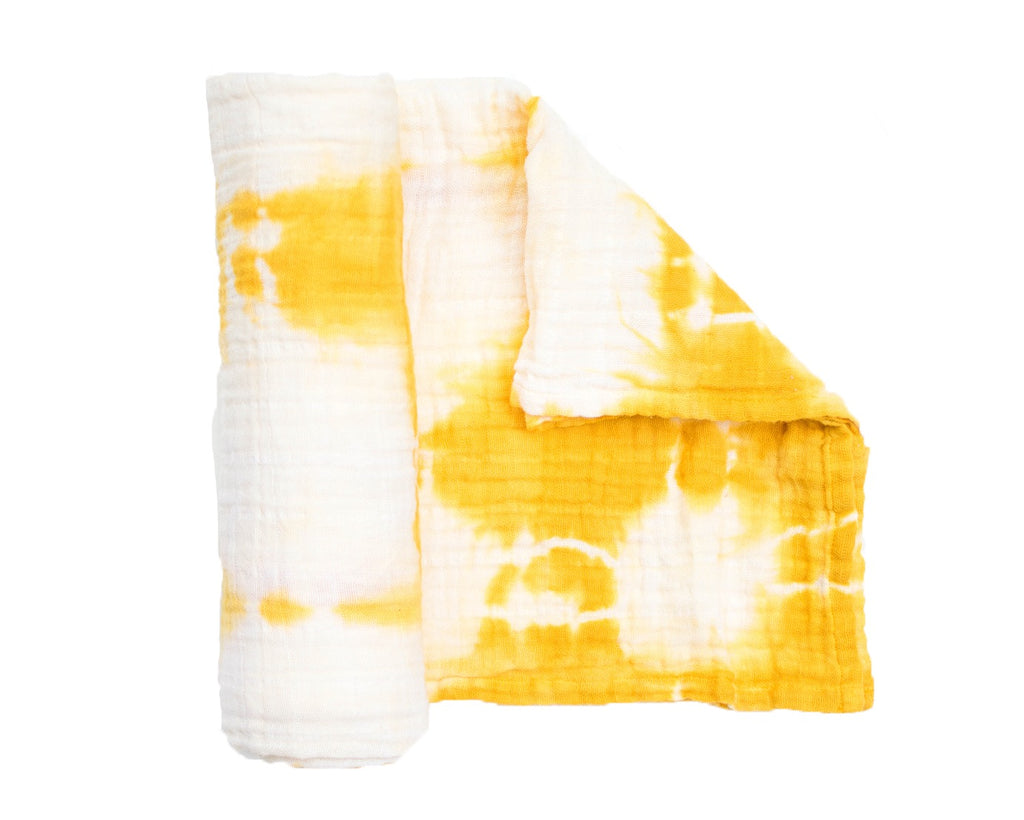 Muslin Blanket - Honey Shibori