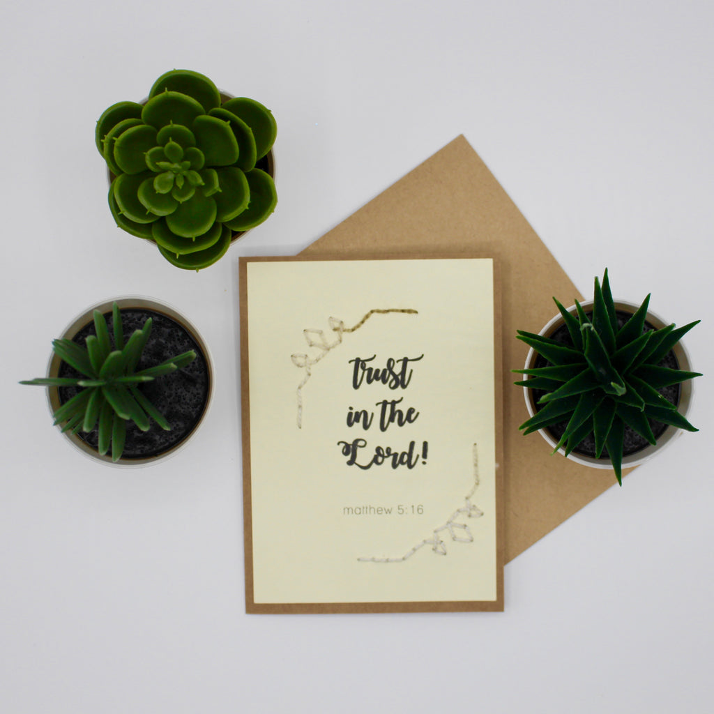 Greeting Card - Trust in the Lord