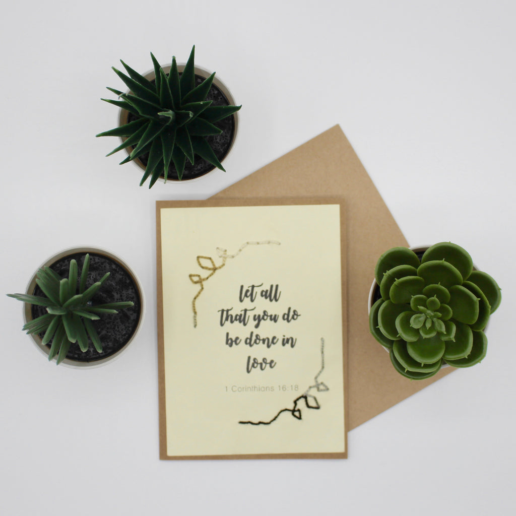 Greeting Card - Be Done in Love