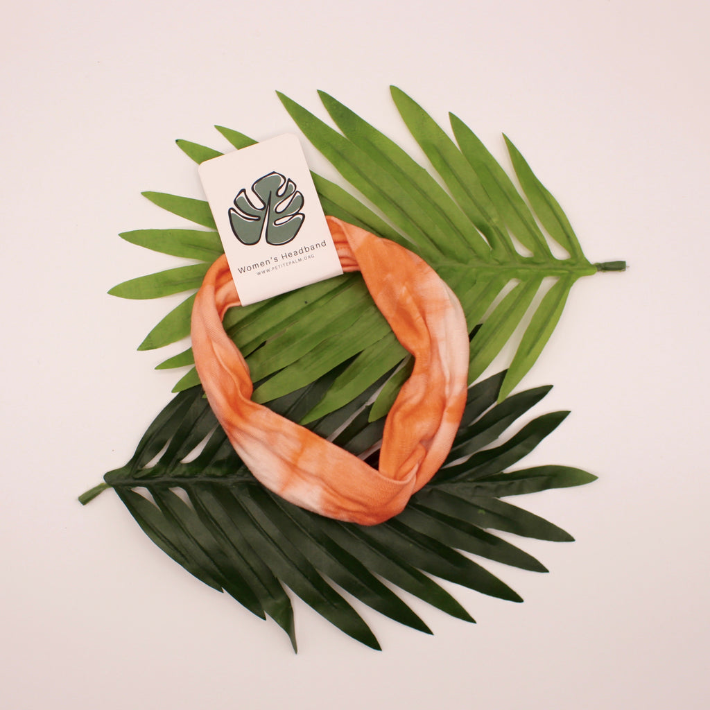 Shibori Stretch Headband - Peach