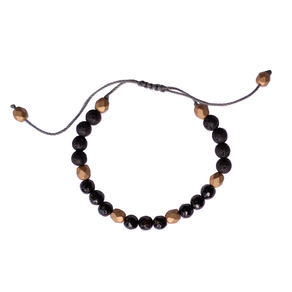 Gemstone Diffuser Bracelet - Strength (Black Onyx)