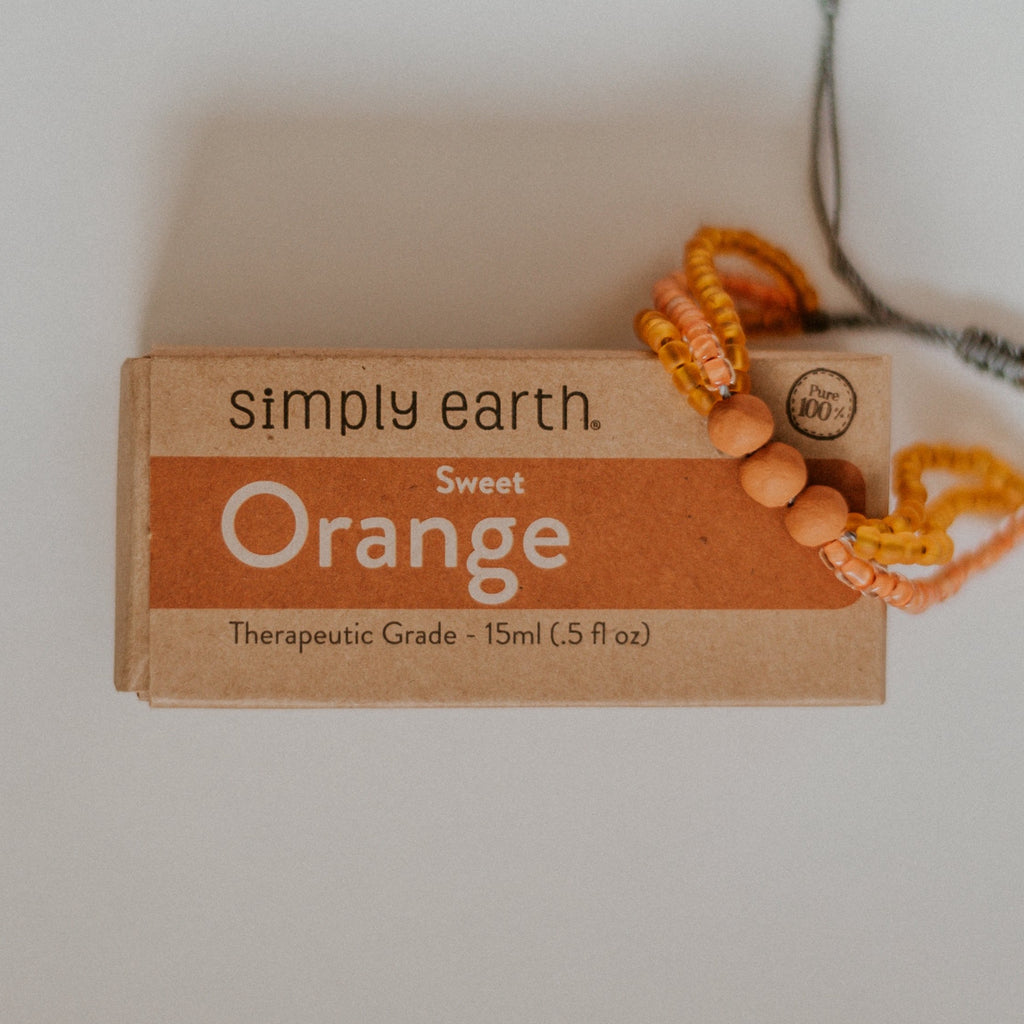 Fresh Diffuser Set - Mango Bracelet + Orange Essential Oil