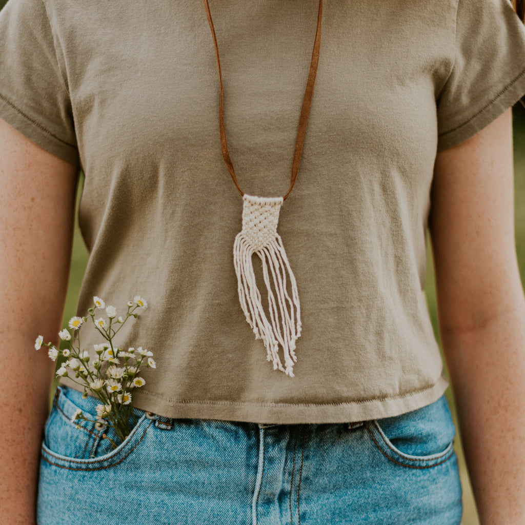 Macramé Necklace - Natural