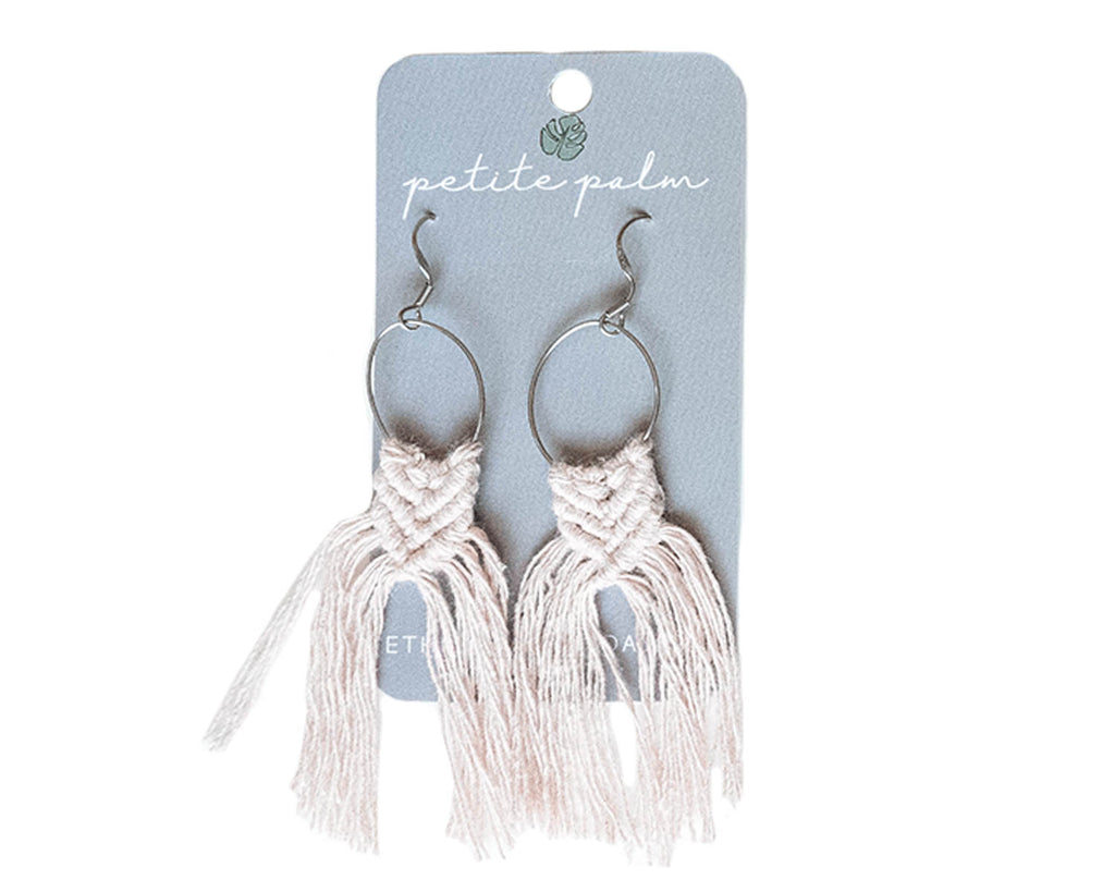Mini Mac Earrings - Natural