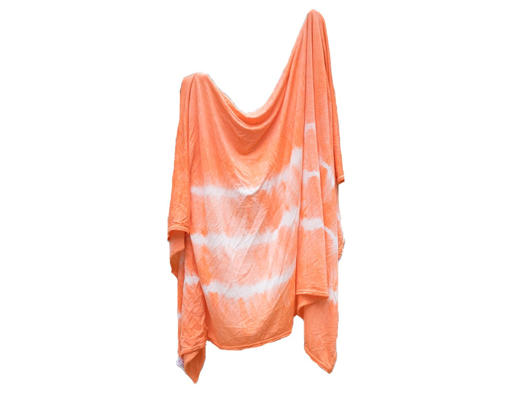 Stretch Swaddle - Peach Striped