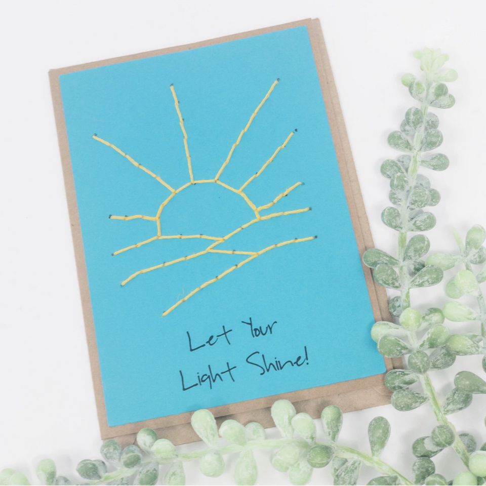 Greeting Card - Let Your Light Shine