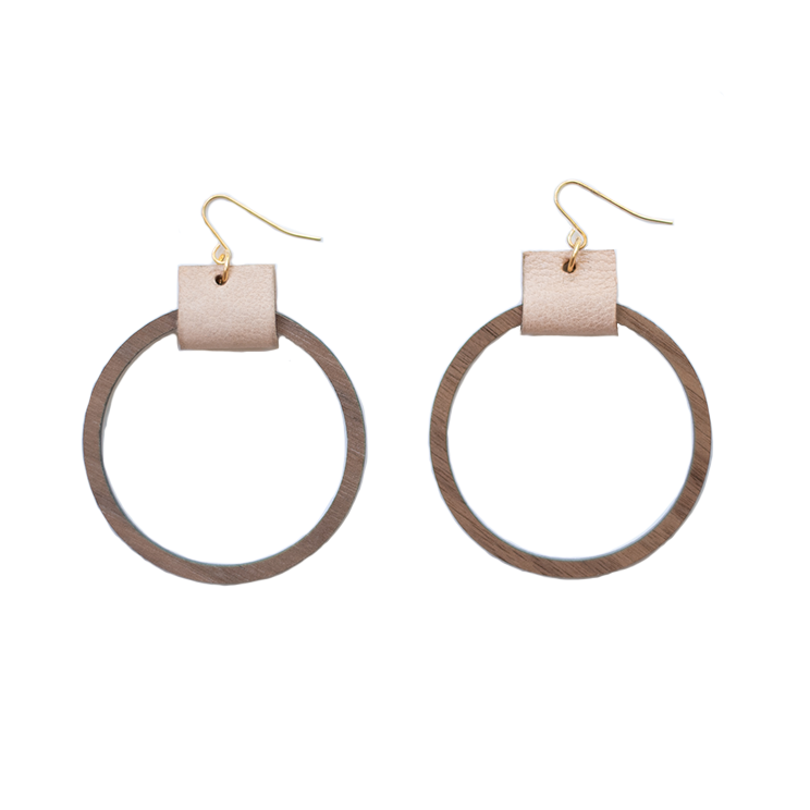 Simple Hoop Earrings - Blush