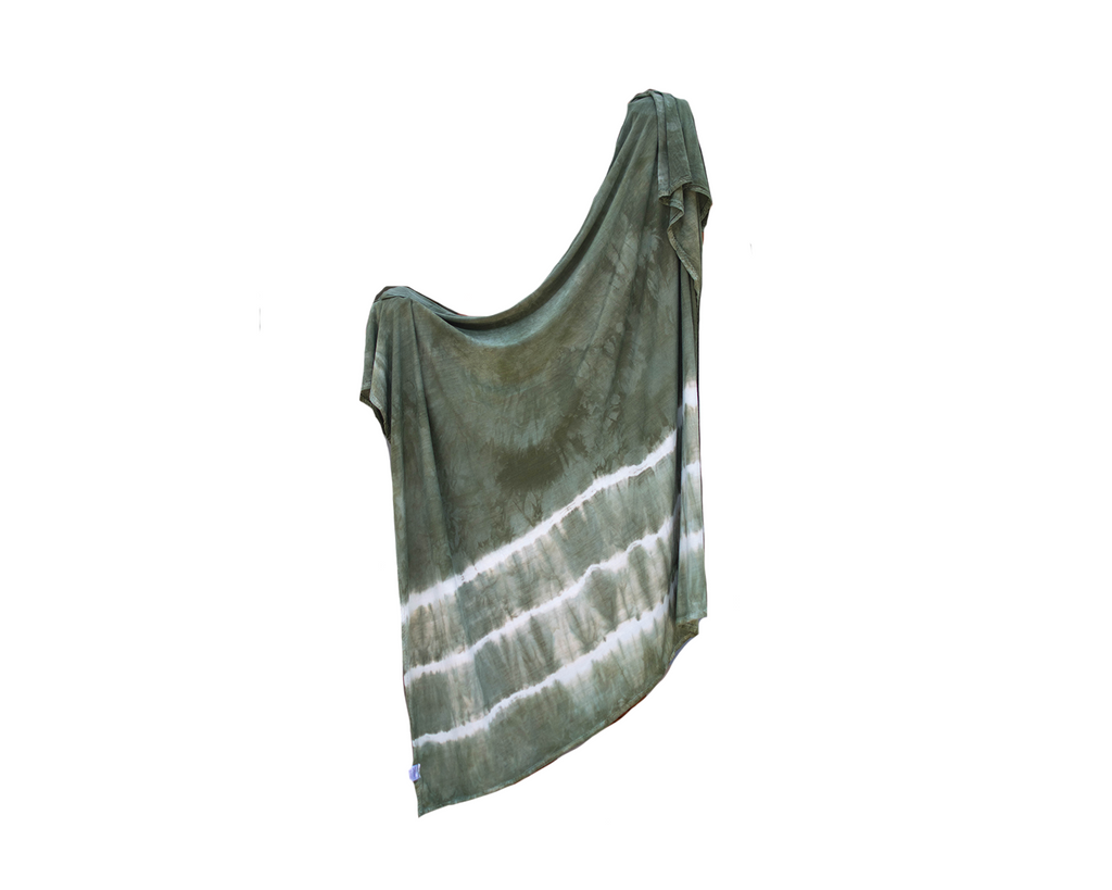 Stretch Swaddle - Olive Striped