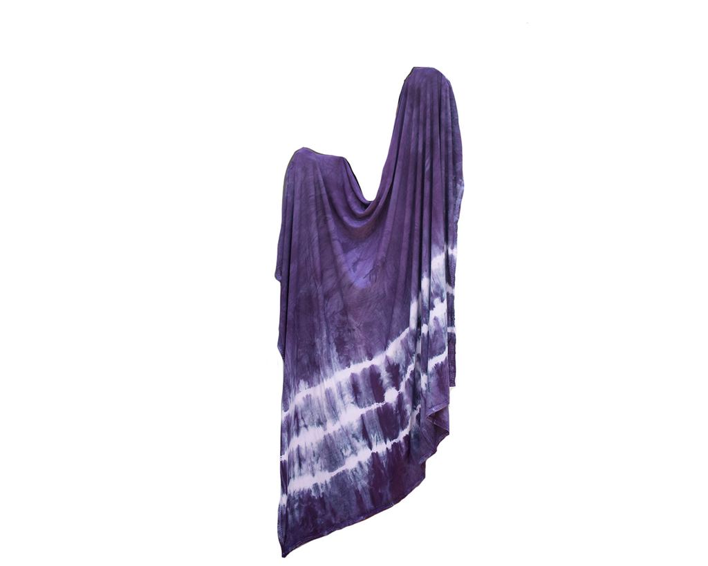 Stretch Swaddle - Plum Striped