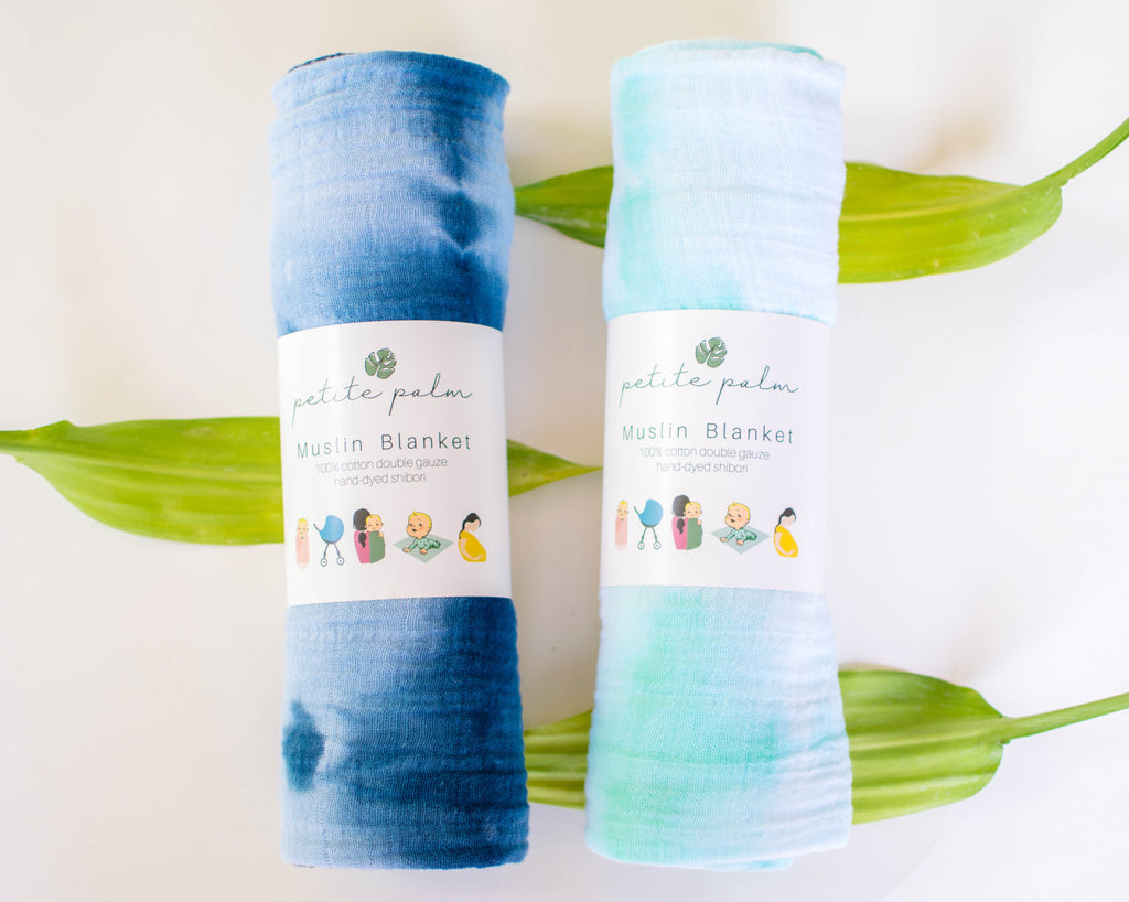 Sweet Dreams Bundle - Indigo + Mint Blankets