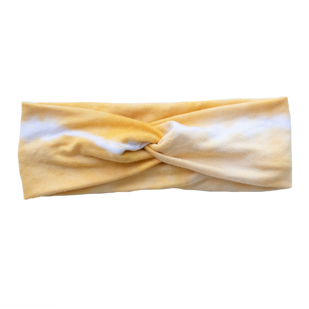 Shibori Stretch Headband - Honey