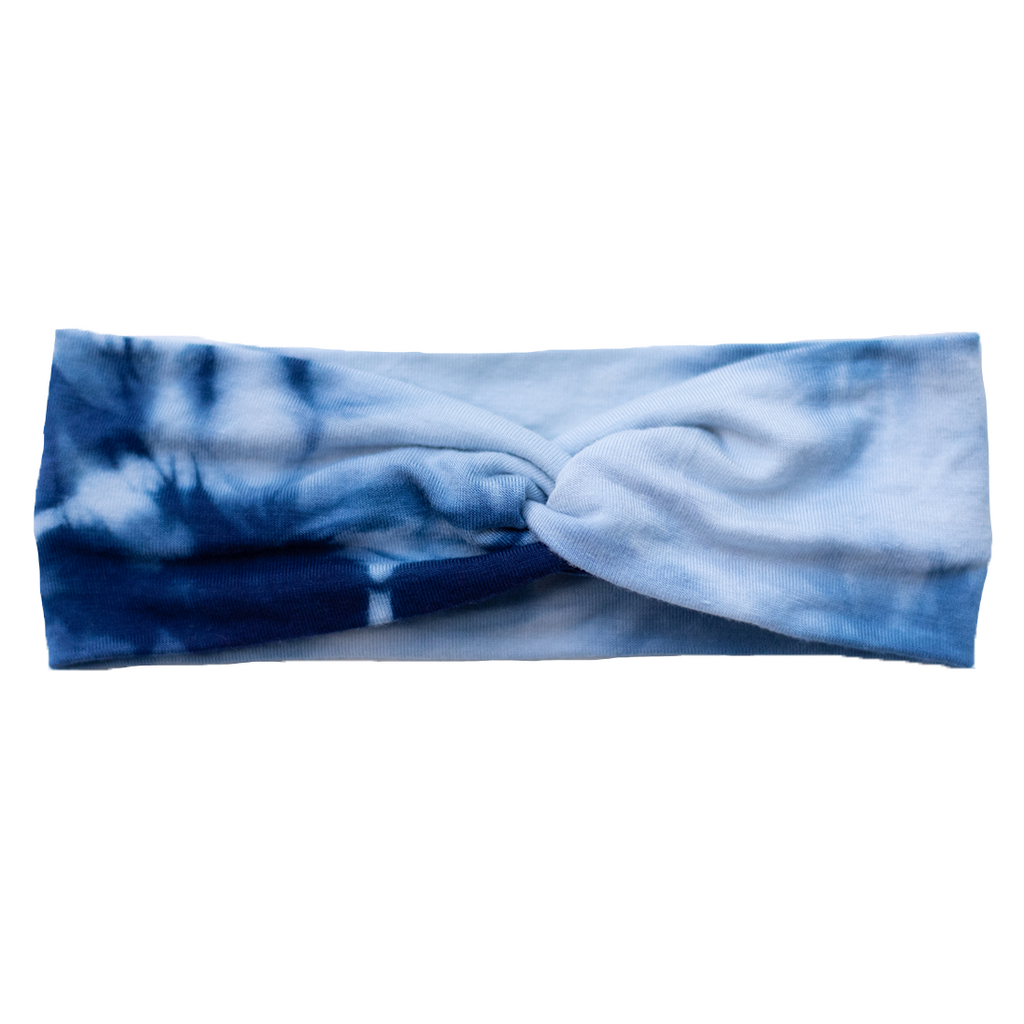 Shibori Stretch Headband - Indigo