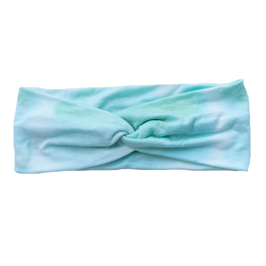 Shibori Stretch Headband - Mint
