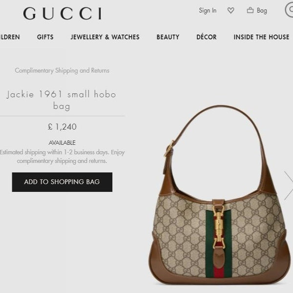 Gucci Jackie 1961 small hobo bag - 636706 * £ 1,240
