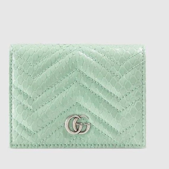 Gucci GG Marmont python card case wallet - ‎466492 * £520