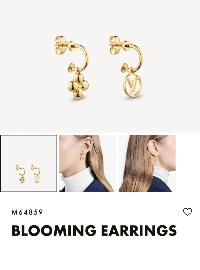 LV BLOOMING EARRINGS - M64859 * £230