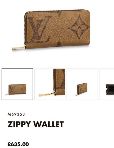 LV ZIPPY WALLET - M69353 * £635
