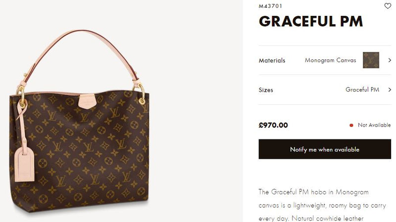 LV GRACEFUL PM - M43701 * £970
