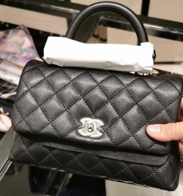 Chanel Mini Flap Bag With Top Handle - A92990 * £3120