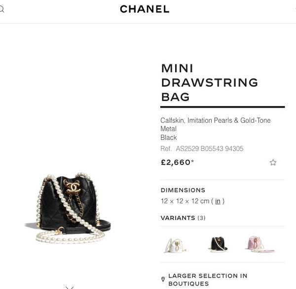 Chanel Mini Drawstring Bag - AS2529 * £2,660