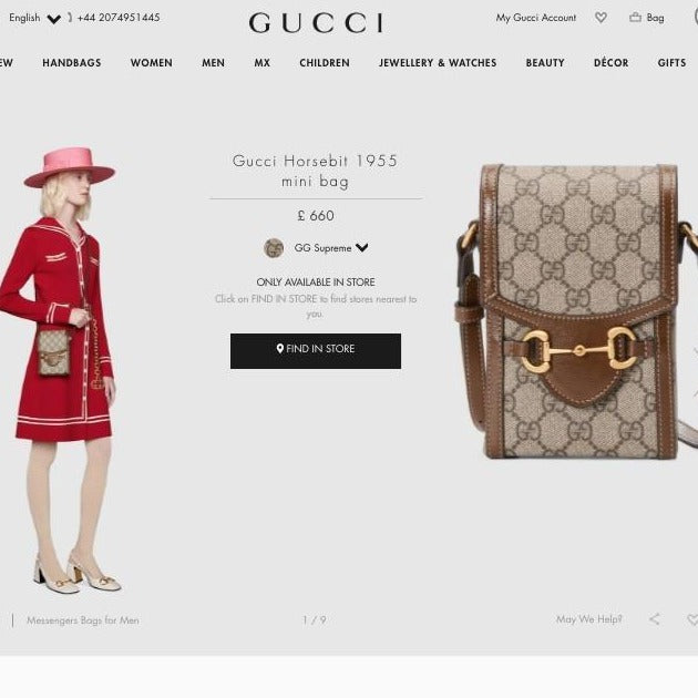 Gucci Horsebit 1955 Mini Bag - ‎625615 * £660 / £725