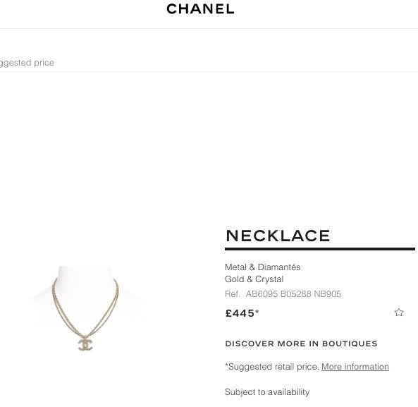 Chanel Necklace - AB6095 * £445