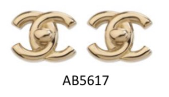 Chanel CC Turn-lock Metal Earrings - AB5617 * £320
