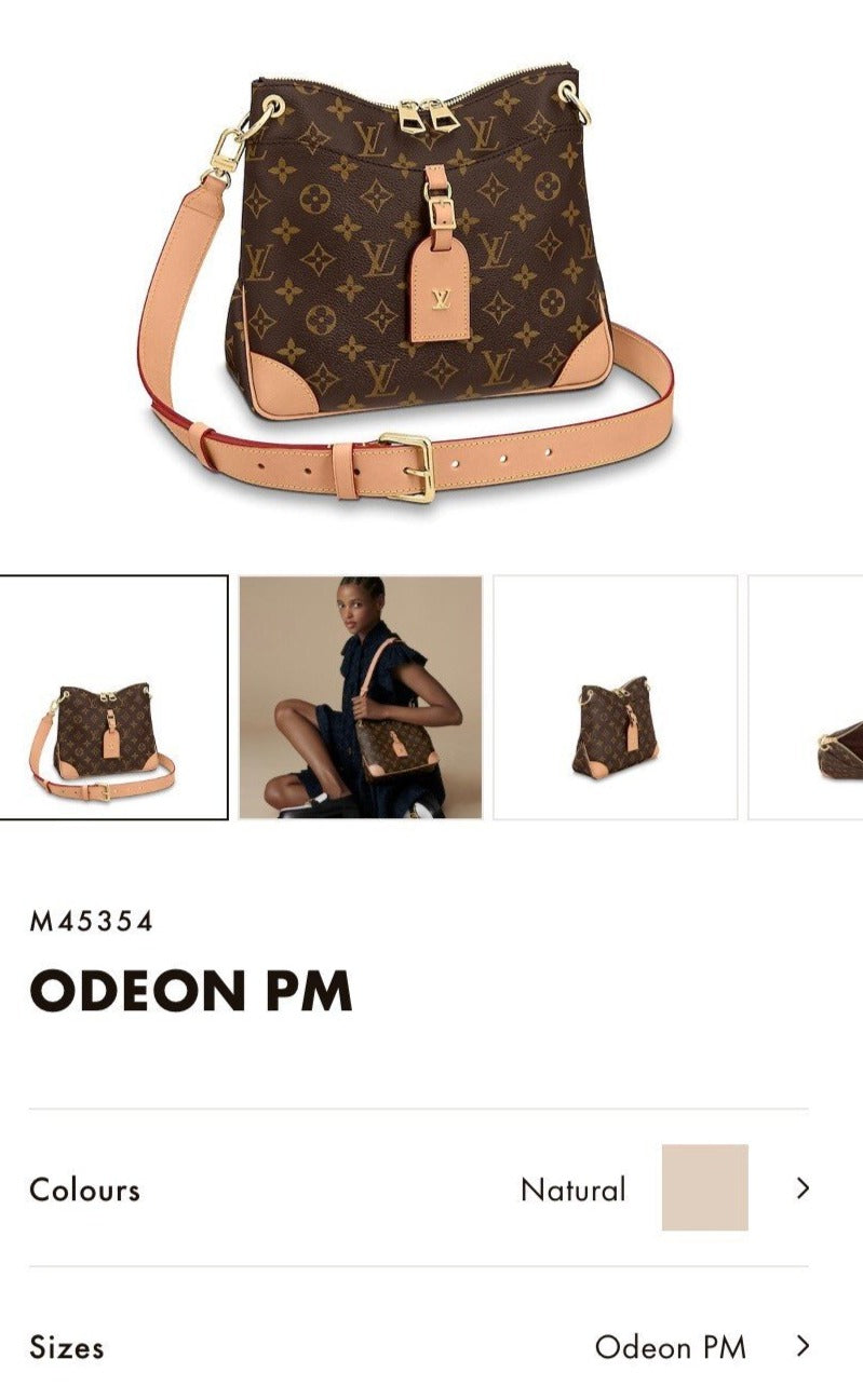 LV ODEON PM BAG - M45354 * £1,260