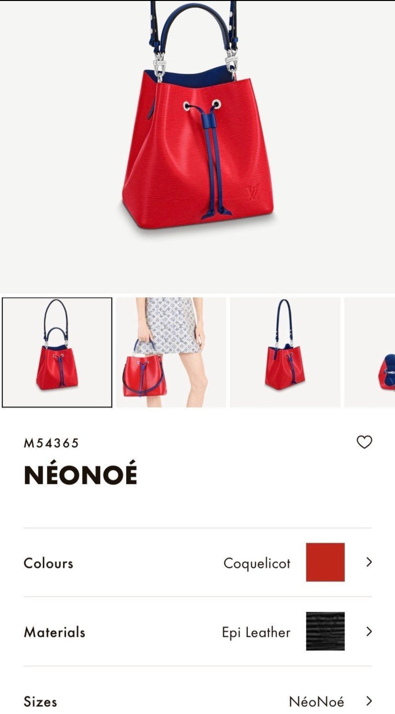 LV NÉONOÉ BUCKET BAG * £1,590
