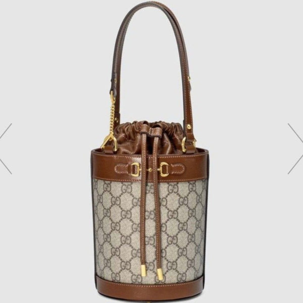 Gucci Horsebit 1955 Small Bucket Bag 老花織布 - 637115 * £1,320