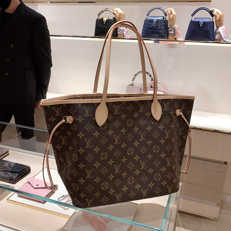 LV NEVERFULL MM TOTE BAG 咖啡老花 * £1,040 / £1,070
