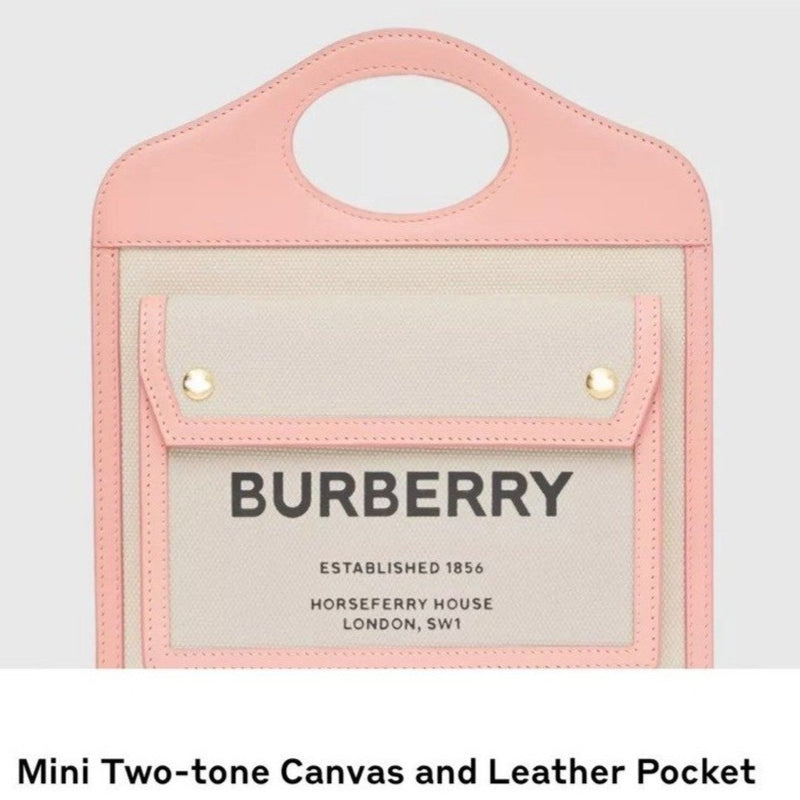 Burberry Mini Two-tone Canvas and Leather Pocket Bag - 80323311 * £890