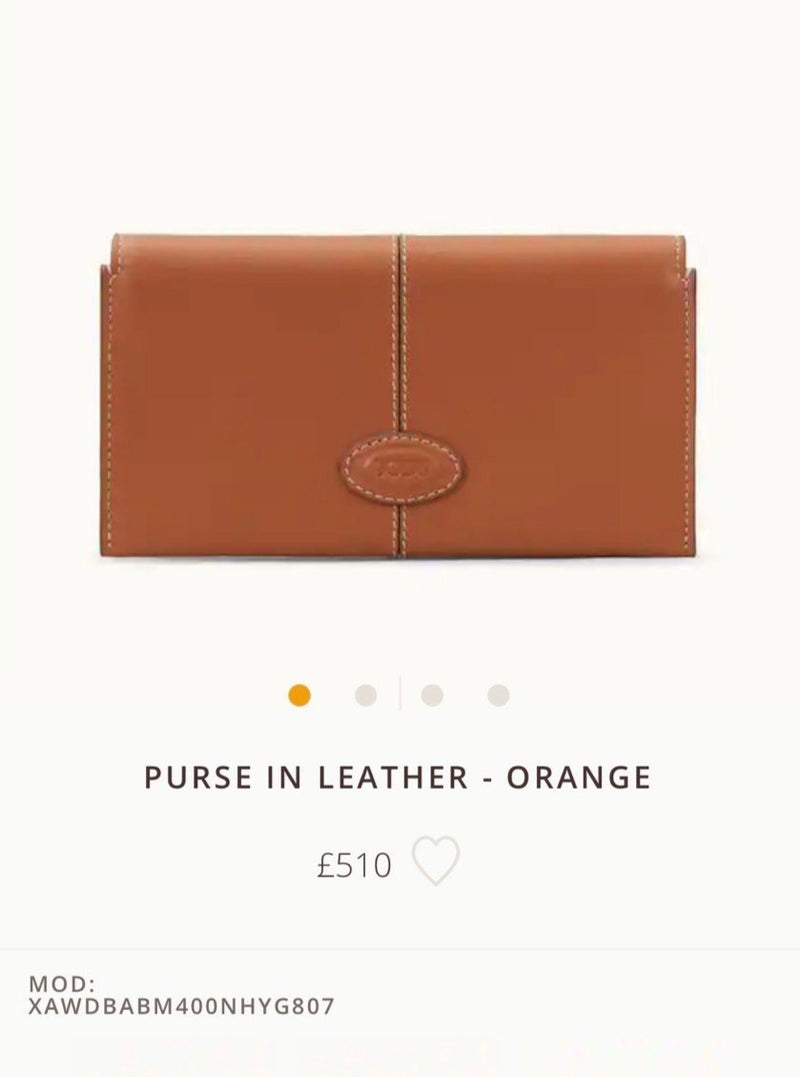 TOD'S PURSE IN LEATHER * £510