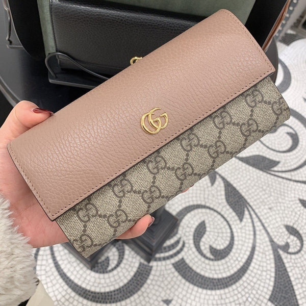 Gucci GG Marmont Leather Continental Wallet - 456116 * £415